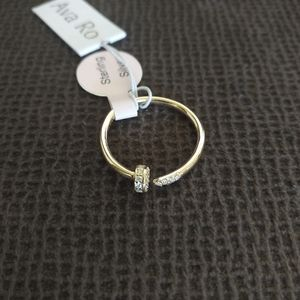 Ava Ro🚣 Open Ended Gold Nail 🔨 Ring - NWT